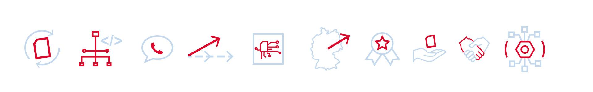 Icons Elektrotechnik ertec GmbH Neitzel Werbeagentur Erlangen