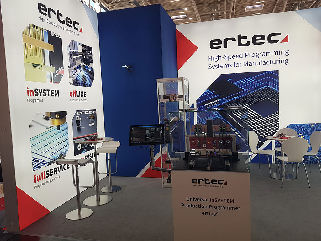 ertec GmbH Messestand Gestaltung Design Neitzel Werbeagentur Erlangen